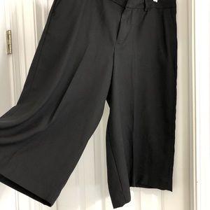 Lightweight black culottes